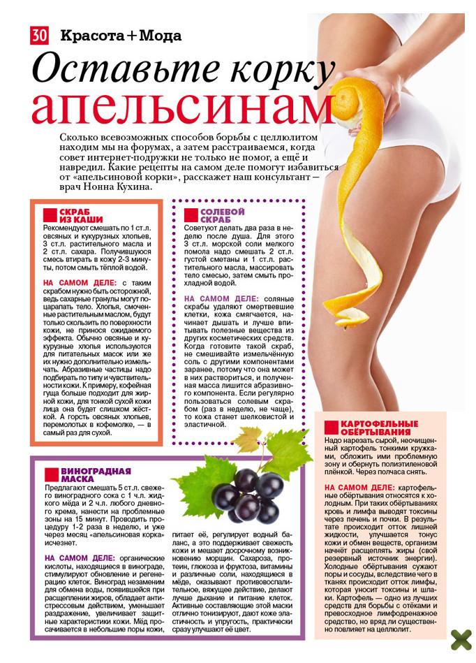 Эффективные рецепты целлюлита